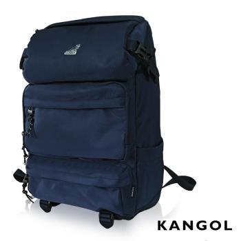 KANGOL 英式時尚登山高機能大容量13吋筆電層後背包 -藍