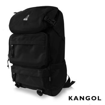 KANGOL 英式時尚登山高機能大容量13吋筆電層後背包 -黑