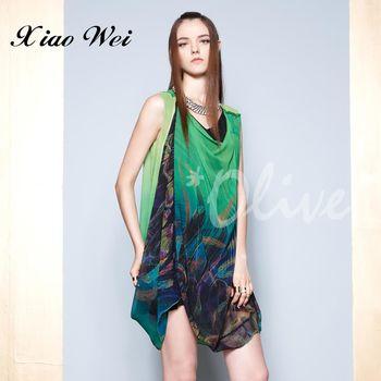 CHENG DA春夏專櫃精品女裝時尚無袖洋裝 NO.123559