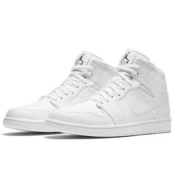 【NIKE】Air Jordan 1 Mid 男子運動鞋  554724-110