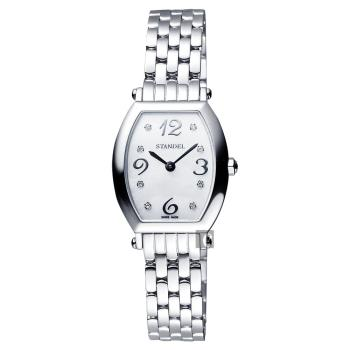 Standel 詩丹麗 優雅系列石英女錶 珍珠貝x銀 24mm 6S1604-111S-WM