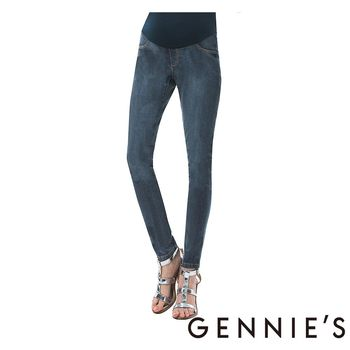Gennie's奇妮-一體成型托腹牛仔褲 (T4B04藍)