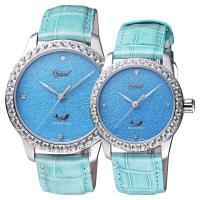 Ogival愛其華 琺瑯晶鑽機械對錶 淺藍 42 37mm 1550.14AGW 1550.14AMW