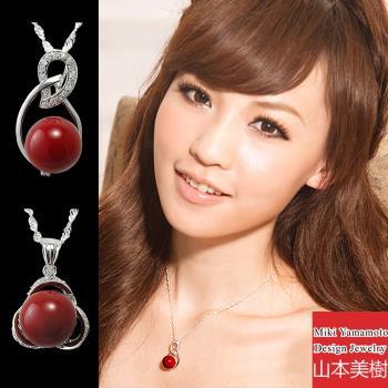 山本美樹 紅蜜蠟奧地利水晶項鍊