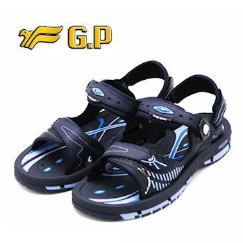 【G.P】時尚休閒兩用涼鞋 男女共用款-藍(另有橘)