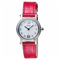 Standel 詩丹麗60週年系列真鑽女錶 珍珠貝x紅 28mm 6S1604-321DS-WM