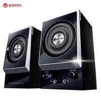 KINYO『剛毅』二件式耳麥全木質防磁擴大音箱(KY-1007)