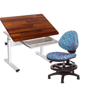 GXG 兒童成長 原木書桌椅組 TW-3686KD 搭配數字椅