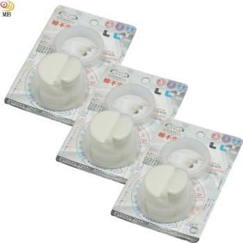 月陽台灣製造全塑化防蟑防臭排水口水門落水頭超值3入(LY95473)