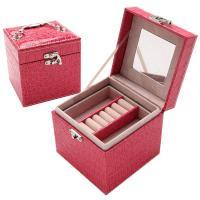 COMET 時尚鱷紋皮革三層飾品收納盒(TO-BX01)