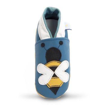 【英國Daisy Roots】百年手做全皮革幼兒鞋學步鞋童鞋(小蜜蜂/藍色)