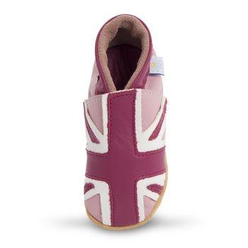 【英國Daisy Roots】百年手做全皮革幼兒鞋學步鞋童鞋(新粉紅國旗)