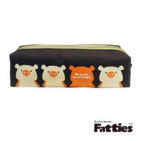 任-【Mini Beanie】Fatties方型筆袋-小豬(咖啡色)