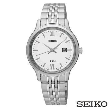 SEIKO精工 Neo Classic Pareja典雅銀色系女士手錶 SUR711