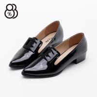 【88%】MIT台灣製個性學院風尖頭亮皮包鞋低跟樂福鞋紳士鞋