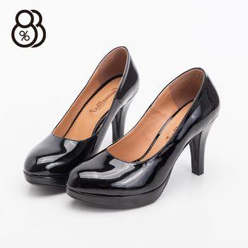 【88%】MIT台灣製婚禮派對氣質亮面絨面防水台高跟9.5cm包鞋高跟鞋