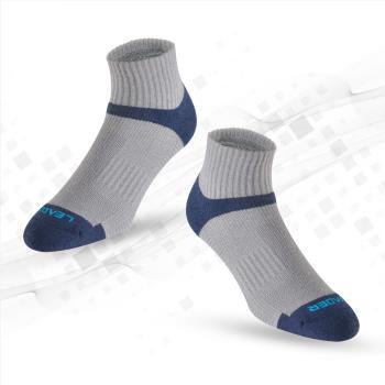 任-LEADER COOLMAX 除臭 機能運動襪 灰藍