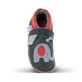 【英國Daisy Roots】百年手做全皮革幼兒鞋學步鞋童鞋(風箏小象/藍色)