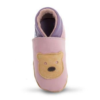 【英國Daisy Roots】百年手做全皮革幼兒鞋學步鞋童鞋(泰迪熊/粉紅)