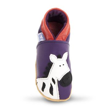 【英國Daisy Roots】百年手做全皮革幼兒鞋學步鞋童鞋(小斑馬/紫色)