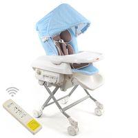 Yip Baby 第三代電動餐搖椅-點點藍