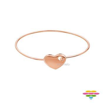 彩糖鑽工坊 Doris系列 925純銀鍍玫瑰金手環