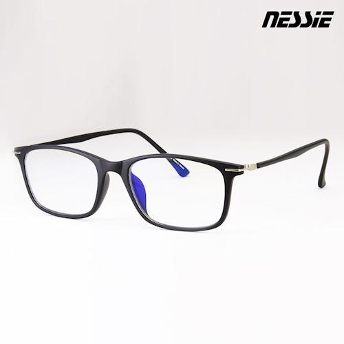【Nessie尼斯眼鏡】抗藍光眼鏡-羽量系列(深邃黑) 贈精美眼鏡盒 超輕 高科技防水鍍膜 專業反射式濾藍光鏡片