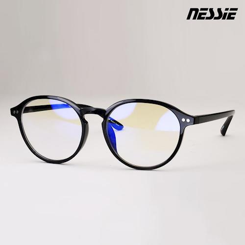 【Nessie尼斯眼鏡】抗藍光眼鏡-復古系列(文青黑) 贈精美眼鏡盒 復古 文青 高科技防水鍍膜 專業反射式濾藍光鏡片