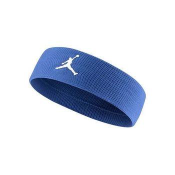 【NIKE】JORDAN JUMPMAN 單色頭帶-飛人喬登 籃球 NBA 一條入 藍白