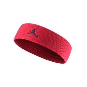 【NIKE】JORDAN JUMPMAN 單色頭帶-飛人喬登 籃球 NBA 一條入 紅黑