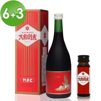 【大和酵素】人蔘酵素原液6大3小回饋組(720ml*6瓶+30ml*3瓶)