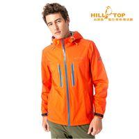 【hilltop山頂鳥】男款超輕量防水透氣抗UV外套H22MV4熱橘紅