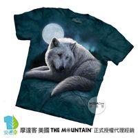 【摩達客】(預購)( 男童/女童裝)美國進口The Mountain 北極狼 純棉環保短袖T恤