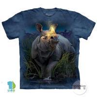 【摩達客】(預購)( 男童/女童裝)美國進口The Mountain 麒麟犀牛 純棉環保短袖T恤