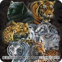 【摩達客】(預購)( 男童/女童裝)美國進口The Mountain 虎豹環伺 純棉環保短袖T恤