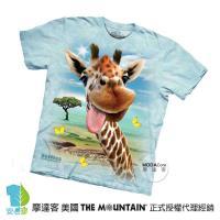 【摩達客】(預購)( 男童/女童裝)美國進口The Mountain 長頸鹿哦耶 純棉環保短袖T恤
