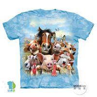 【摩達客】(預購)( 男童/女童裝)美國進口The Mountain 農場動物們哦耶 純棉環保短袖T恤