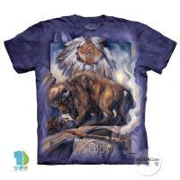 【摩達客】(預購)美國進口The Mountain 捕夢網與牛 純棉環保短袖T恤