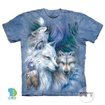 【摩達客】(預購)美國進口The Mountain 旅程狼 純棉環保短袖T恤