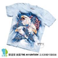 【摩達客】(預購)美國進口The Mountain 忠誠鷹 純棉環保短袖T恤
