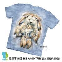 【摩達客】(預購)美國進口The Mountain 聖靈白熊 純棉環保短袖T恤