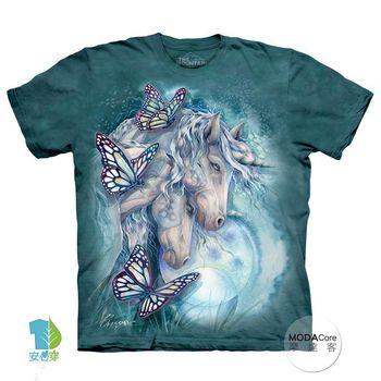 【摩達客】(預購)美國進口The Mountain 魔幻獨角獸 純棉環保短袖T恤
