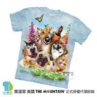 【摩達客】(預購)美國進口The Mountain 寵物們哦耶 純棉環保短袖T恤