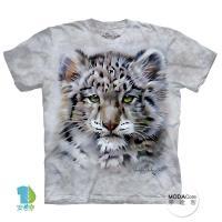 【摩達客】(預購)美國進口The Mountain 小雪豹臉 純棉環保短袖T恤