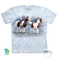 【摩達客】(預購)美國進口The Mountain 馬兒跑跑  純棉環保短袖T恤