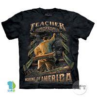 【摩達客】(預購)美國進口The Mountain 美國男教師 純棉環保短袖T恤