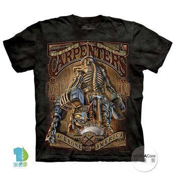 【摩達客】(預購)美國進口The Mountain 木匠骷髏 純棉環保短袖T恤