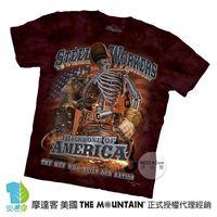 【摩達客】(預購)美國進口The Mountain 鋼鐵骷髏 純棉環保短袖T恤