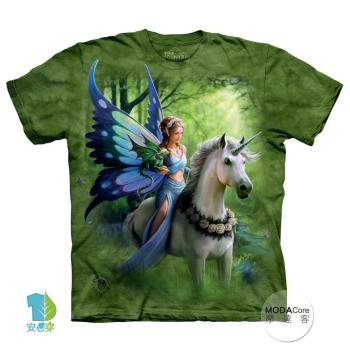 【摩達客】(預購)美國進口The Mountain 獨角獸仙女精靈 純棉環保短袖T恤