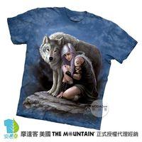 【摩達客】(預購)美國進口The Mountain 狼守護者 純棉環保短袖T恤